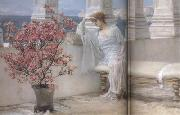 Alma-Tadema, Sir Lawrence Her Eyes Are with her Thoughts and They Are Far Away (mk23) painting