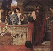 Alma-Tadema, Sir Lawrence Hadrian Vistiting a Romano-British Pottery (mk23) painting