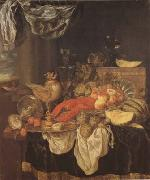 BEYEREN, Abraham van Still Life with Lobster (mk08) oil painting reproduction