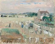 Berthe Morisot Hanging the Laundry out to Dry (nn02) painting
