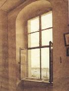Caspar David Friedrich View of the Artist's Studio Left Window (mk10) china oil painting artist
