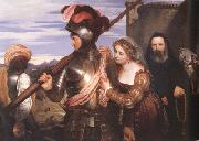 Charles Lock Eastlake The Champion (mk22) oil on canvas