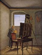 Georg Friedrich Kersting Friedrich in his Studio (mk10) oil