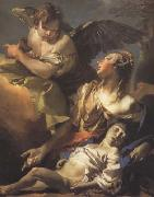 Giovanni Battista Tiepolo Hagar and Ismael in the Widerness (mk08) painting