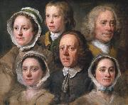 HOGARTH, William Heads of Six of Hogarth's Servants (mk08) painting
