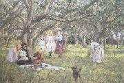 James Charles The Picnic (nn02) oil on canvas