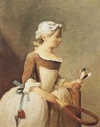 Jean Baptiste Simeon Chardin Girl with a Racquet and Shuttlecock (mk08) oil painting reproduction
