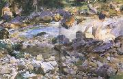 John Singer Sargent Mountain Stream (mk18) oil painting reproduction