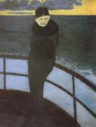 Leon Spilliaert The Crossing (mk19) oil on canvas