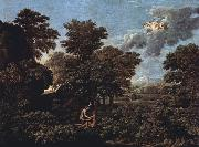 Nicolas Poussin Hut and Well on Rugen (mk10) painting