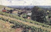 Theodore Robinson From the Hill,Giverny (nn02) oil