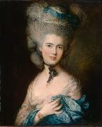 Thomas Gainsborough Woman in Blue (mk08) oil painting reproduction