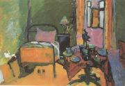 Wassily Kandinsky Bedroom in Ainmillerstrasse (mk12) oil painting artist