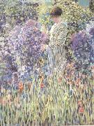 frederick carl frieseke Woman in a Garden (nn02) oil on canvas