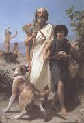 Adolphe William Bouguereau Homer and His Guide (mk26) painting