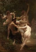 Adolphe William Bouguereau Nymphs and Satyr (mk26) oil painting reproduction