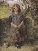 Alexander Davis cooper The Little Milkmaid (mk37) oil on canvas