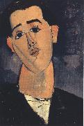 Amedeo Modigliani Portrait of Juan Gris (mk39) oil painting reproduction