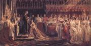 Charles Robert Leslie Queen Victoria Receiving the Sacrament at her Coronation 28 June 1838 (mk25) oil on canvas