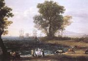 Claude Lorrain Coast Scene with the Rape of Europa (mk25) oil painting reproduction