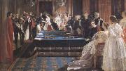 Edward Matthew Ward The Investiture of Napoleon III with the Order of the Garter 18 April 1855 (mk25) oil on canvas
