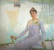 Emile Claus Portrait of Anna de Weert (nn02) oil on canvas