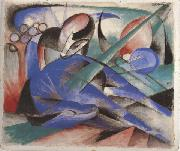 Franz Marc Horse Asleep (mk34) painting