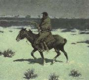 Frederic Remington The Luckless Hunter (mk43) oil