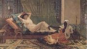 Frederick Goodall A New Light in the Harem (mk32) oil