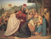 Friedrich Johann Overbeck The Adoration of the Magi (nn03) oil on canvas
