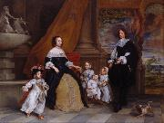 Gonzales Coques The Family of Jan Baptista Anthonie oil on canvas