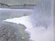 Gustaf Fjaestad Hoar-Frost on the Ice (nn02 painting