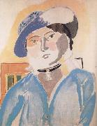 Henri Matisse Marguerite in a Leatheer Hat (mk35) oil painting
