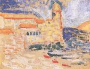 Henri Matisse View of Collioure(The Bell Tower) (mk35) oil painting reproduction