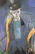 Henri Matisse Portrait of Madame Matisse (mk35) oil painting
