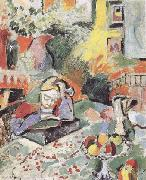 Henri Matisse Interior with a Young Girl Reading (mk35) oil painting