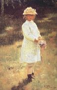 Ilya Repin Girl with a Bouquet (Vera,the Artist's Daughter) (nn02) oil
