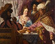 Jan lievens The Feast of Esther (mk33) oil on canvas