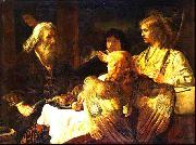 Jan victors Abraham and the three Angels (mk33) oil painting