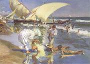 Joaquin Sorolla Beach of Valencia by Morning Light (nn02) oil painting
