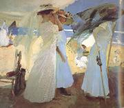 Joaquin Sorolla Under the Awning (Zarauz) (nn02) oil painting
