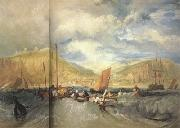 Joseph Mallord William Turner Hastings:Deep-sea fishing (mk31) painting