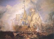 Joseph Mallord William Turner The Battle of Trafalgar (mk25) oil on canvas