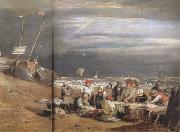 Joseph Mallord William Turner Fishmarket on thte beach (mk31) oil on canvas
