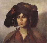Marie Caire Tonoir Femme de Biskra (mk32) oil on canvas