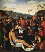 Pietro Perugino Lamentation over the Dead Christ (mk25) oil painting artist