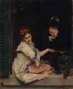 Raimundo de Madrazo y  Garreta Women at a Window (nn02) oil