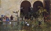 Raimundo de Madrazo y  Garreta Pool in the Alcazar of Seville (nn02) oil