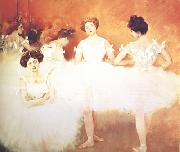 Ramon Casas Ballet Corps (nn02) oil on canvas