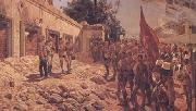 Richard Caton Woodville Khartoum Memorial Service for General Gordon (mk25) oil on canvas